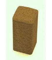 Столбик фигурный квадратный 100х250х80 Горчичный