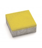 Тротуарная плитка  КВАДРАТ 100х100 Желтый