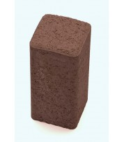 Столбик фигурный квадратный 100х250х80 Коричневый