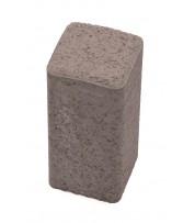 Столбик фигурный квадратный 100х250х80 Cерый