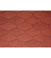 Битумная черепица IKO Diamantshield Tile red
