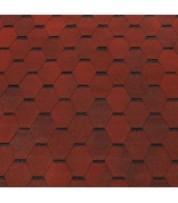 Битумная черепица в виде соты ECOROOF Hexagonal Red