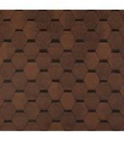 Битумная черепица в виде соты ECOROOF Hexagonal Brown