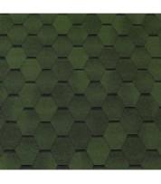 Битумная черепица в виде соты ECOROOF Hexagonal Green