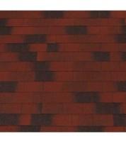 Битумная черепица прямоугольной формы ECOROOF Rectangular Red