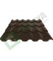 Металлочерепица Ruukki Adamante RR 32 Темно-коричневый