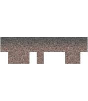 Битумная черепица Aquaizol Акцент Кедровый (красный + серый + коричневая тень)