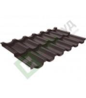 Металлочерепица RUUKKI Finnera RR 887 Коричневый шоколад