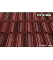 Композитная черепица MetroClassic Red brown