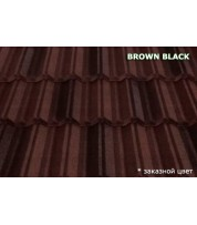 Композитная черепица MetroClassic Brown black
