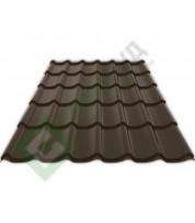 Металлочерепица Ruukki Monterrey RR 32 Темно-коричневый
