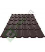 Металлочерепица Ruukki Monterrey RR 887 Коричневый шоколад