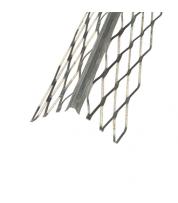 Угол для мокрой штукатурки оцинкованный с сеткой (3.0 м)