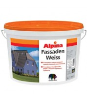 Краска водоэмульсионная атмосферостойкая Alpina Fassadenweiss