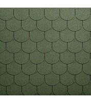 Битумная черепица полукруглой формы ECOROOF Traditional Green