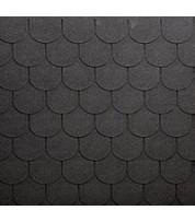 Битумная черепица полукруглой формы ECOROOF Traditional Grey