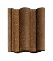 Цементно-песчаная черепица Braas Адрия Коричневая с отливом