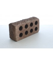 """Кирпич «Литос» стандартный пустотелый """"скала"""" тычковой Коричневый"""
