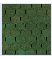 Битумная черепица Shinglas Танго Зеленый
